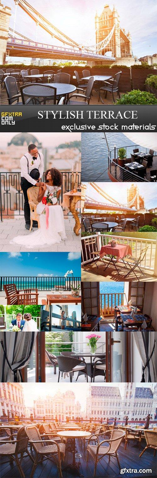 Stylish Terrace - 10 x JPEGs