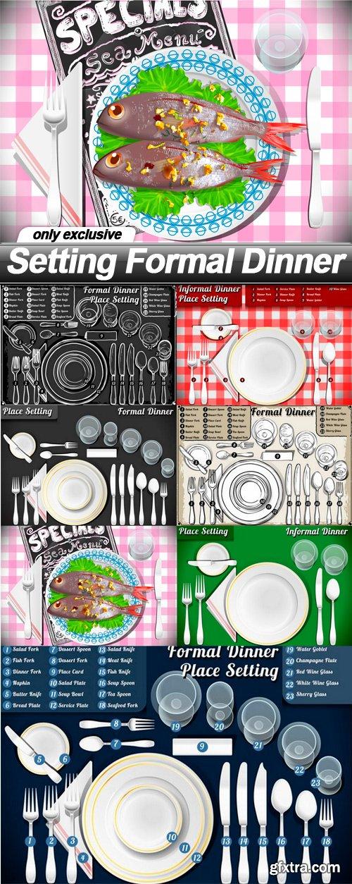 Setting Formal Dinner - 7 EPS