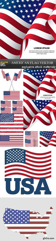 American flag vektor, 10 х EPS