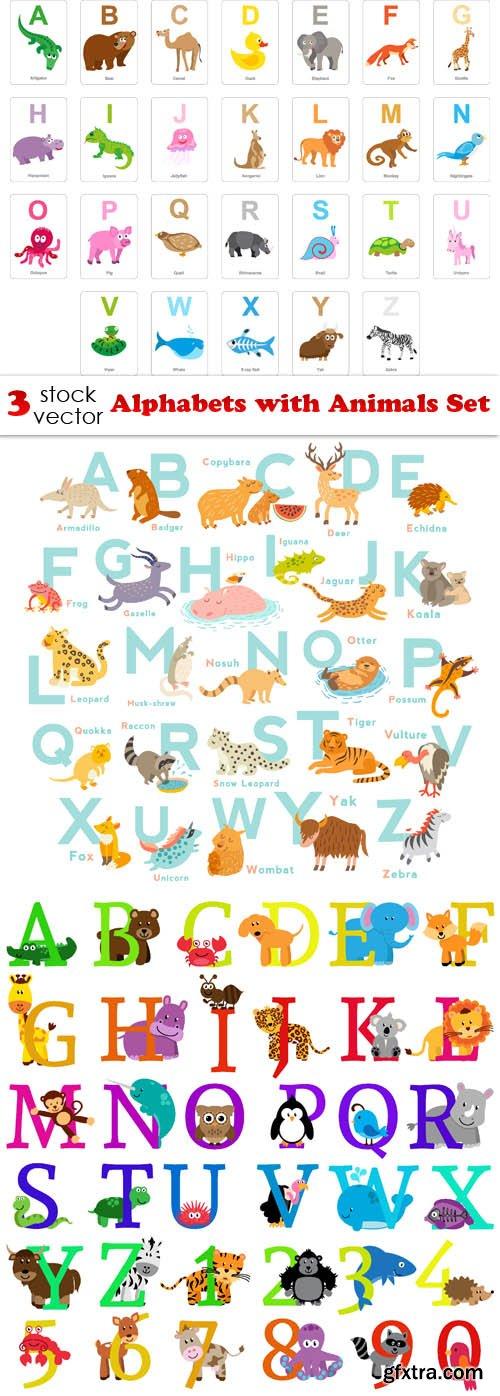 Vectors - Alphabets with Animals Set
