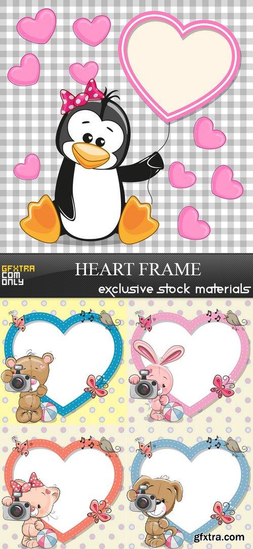 Heart Frame - 5 EPS