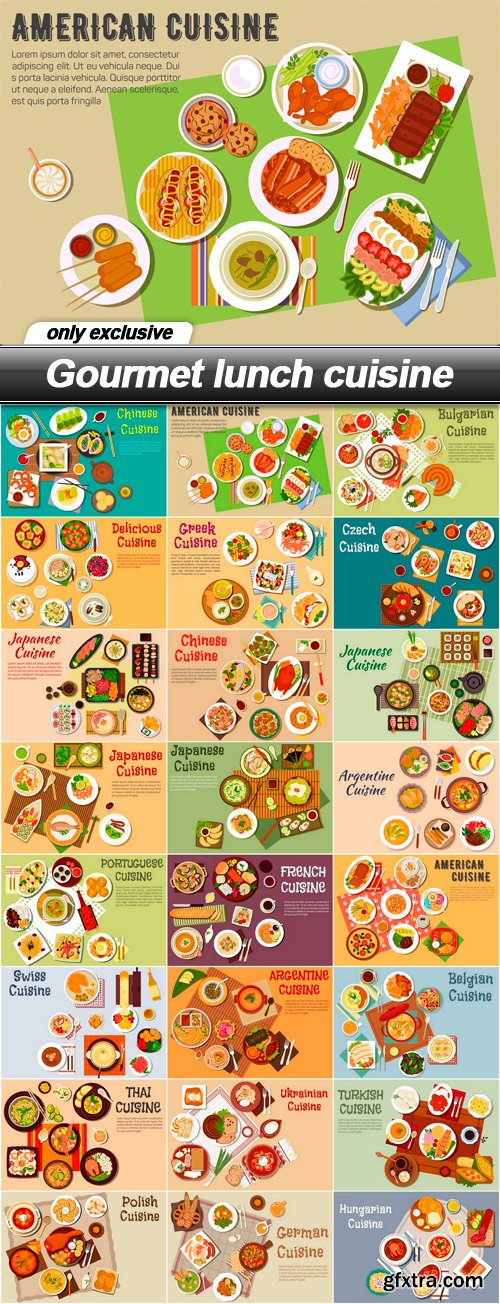 Gourmet lunch cuisine - 24 EPS