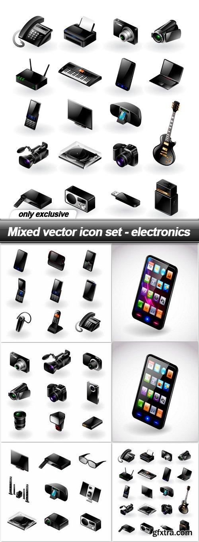 Mixed vector icon set - electronics - 6 EPS