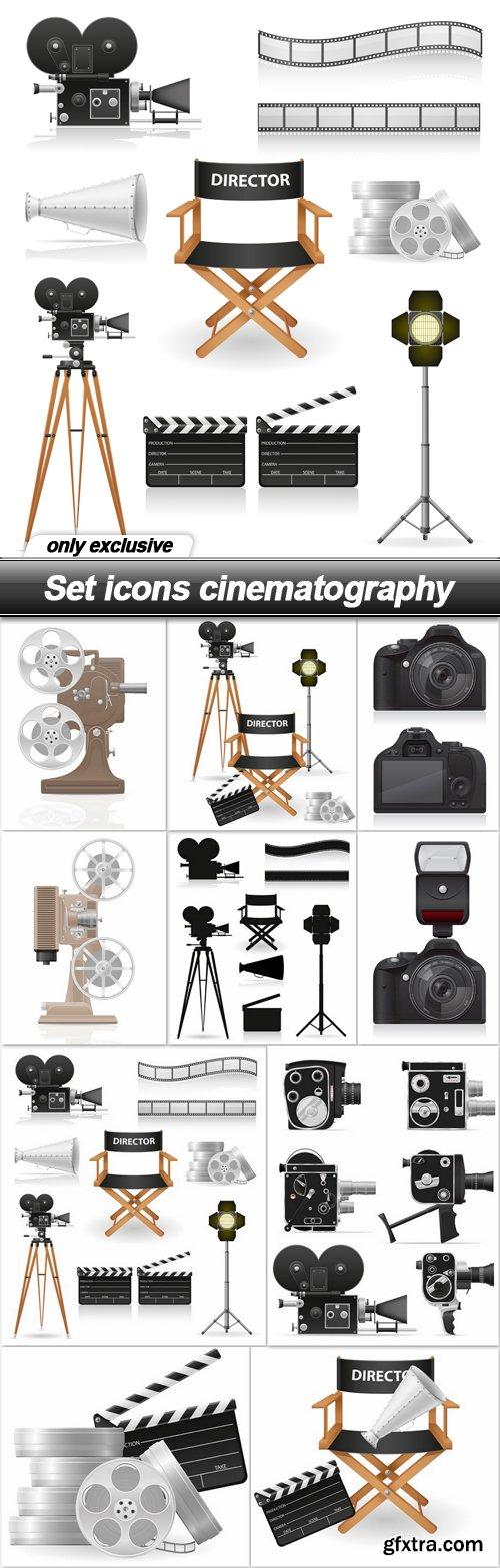 Set icons cinematography - 10 EPS