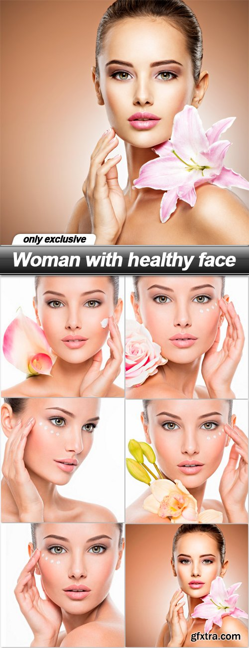 Woman with healthy face - 6 UHQ JPEG