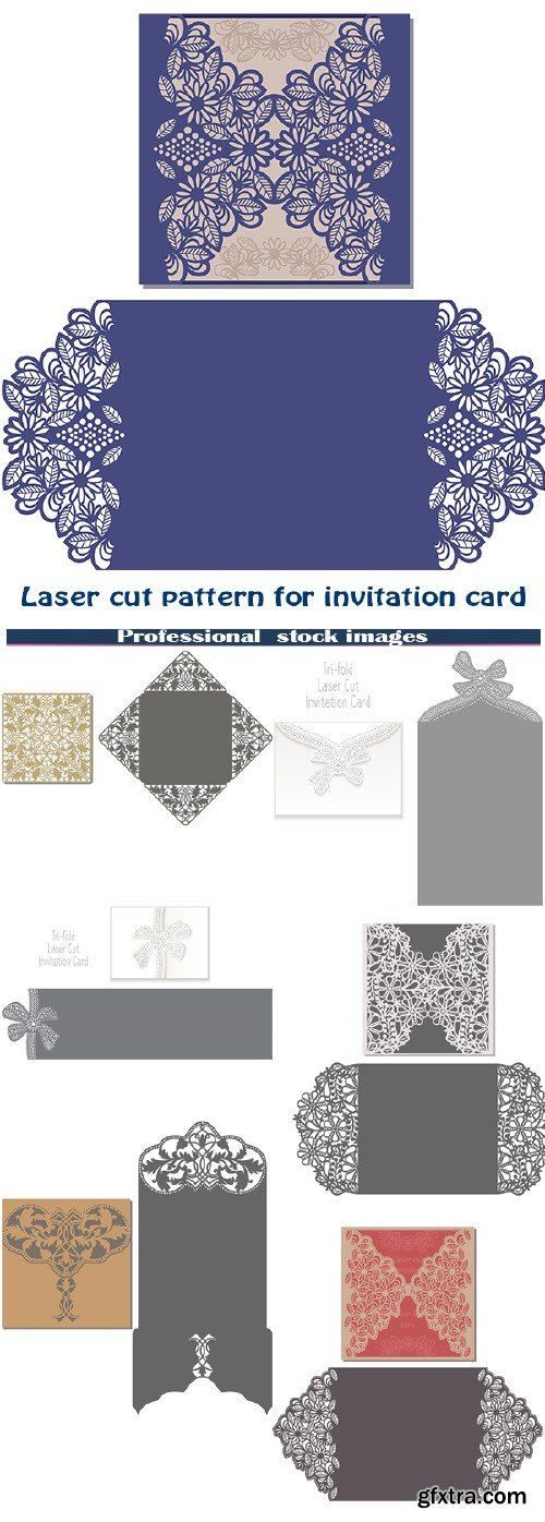 Laser cut pattern for invitation card