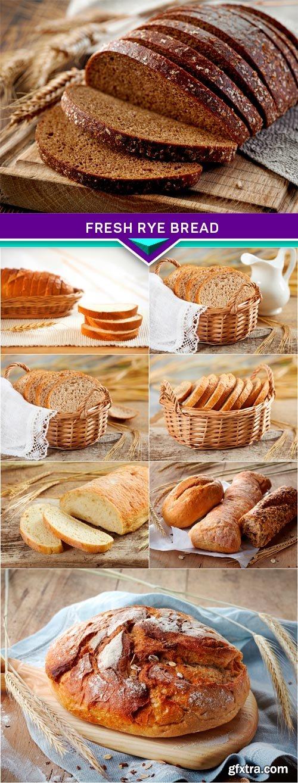 Fresh rye bread 8x JPEG