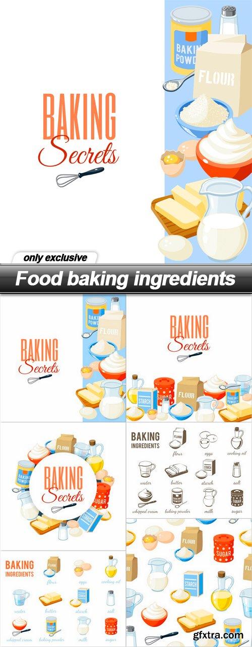 Food baking ingredients - 6 EPS