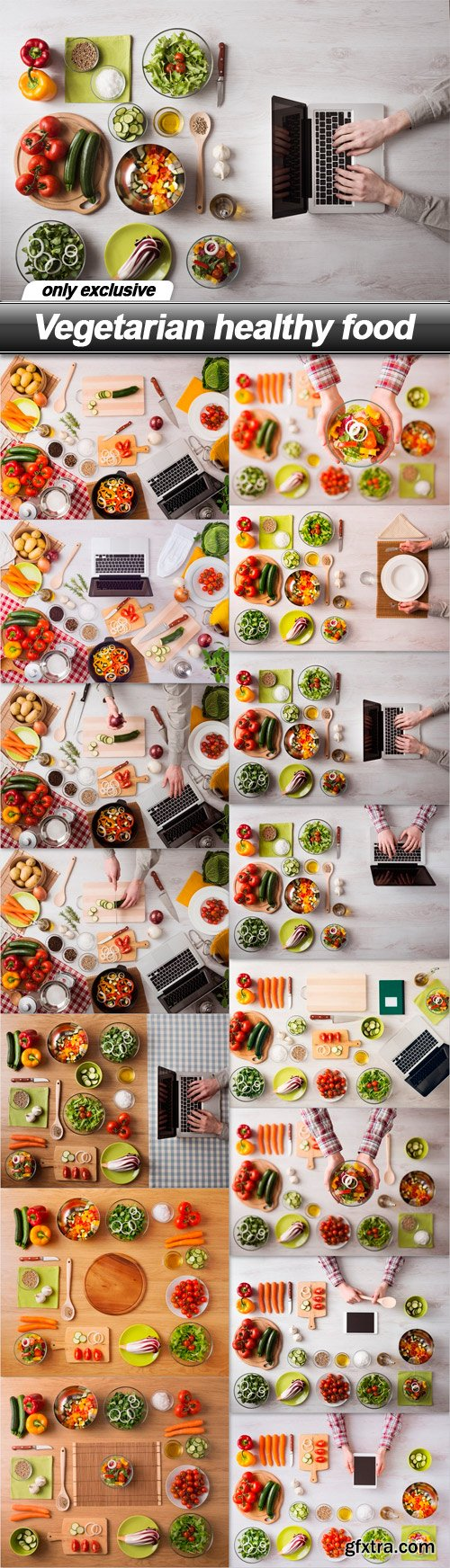 Vegetarian healthy food - 15 UHQ JPEG