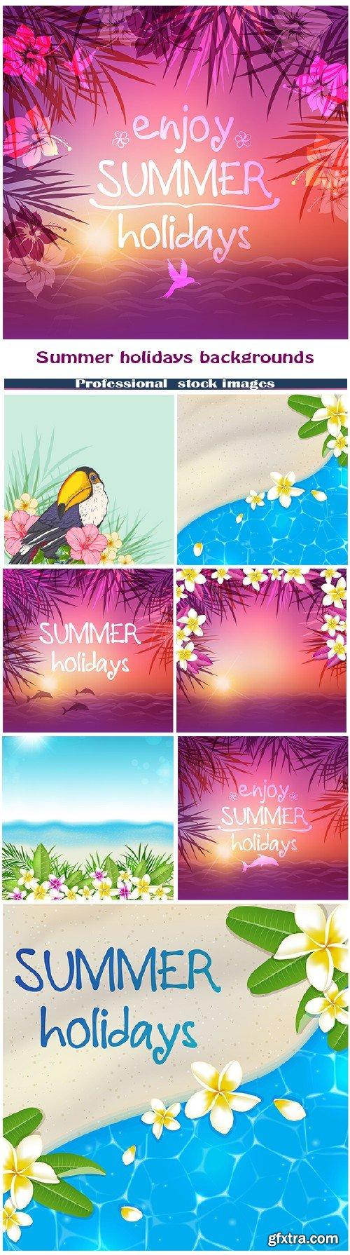 Summer holidays backgrounds #2
