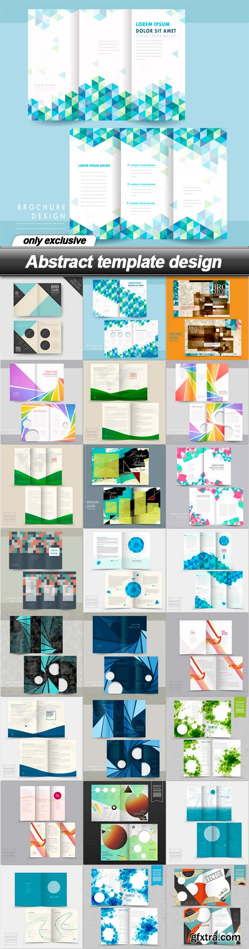 Abstract template design - 25 EPS