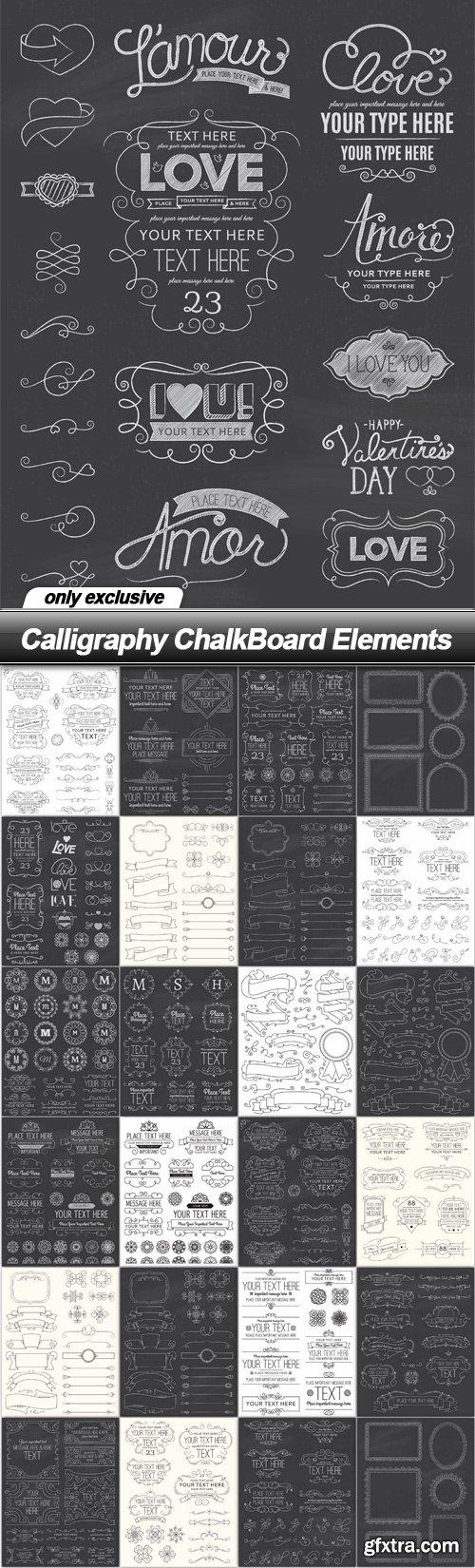 Calligraphy ChalkBoard Elements - 25 EPS