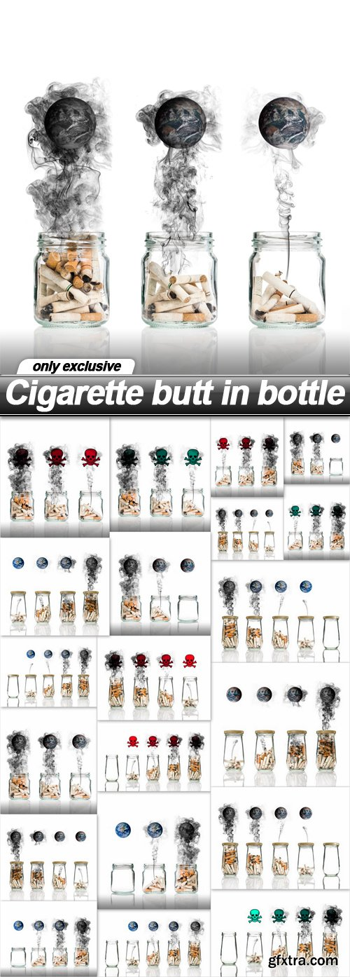 Cigarette butt in bottle - 20 UHQ JPEG