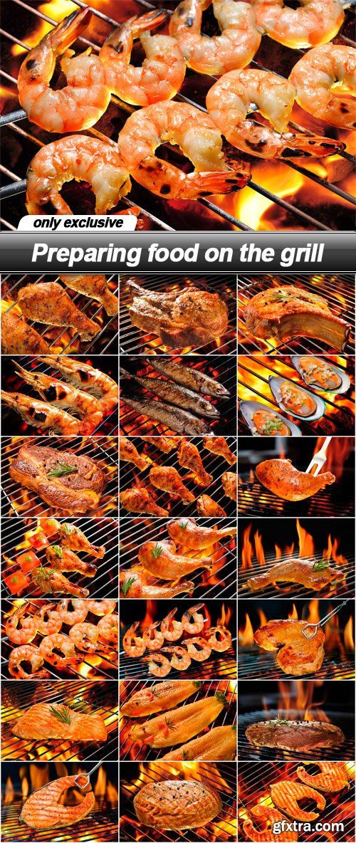 Preparing food on the grill - 21 UHQ JPEG