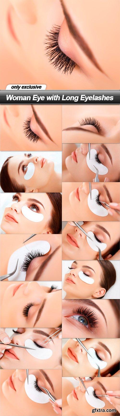 Woman Eye with Long Eyelashes - 15 UHQ JPEG