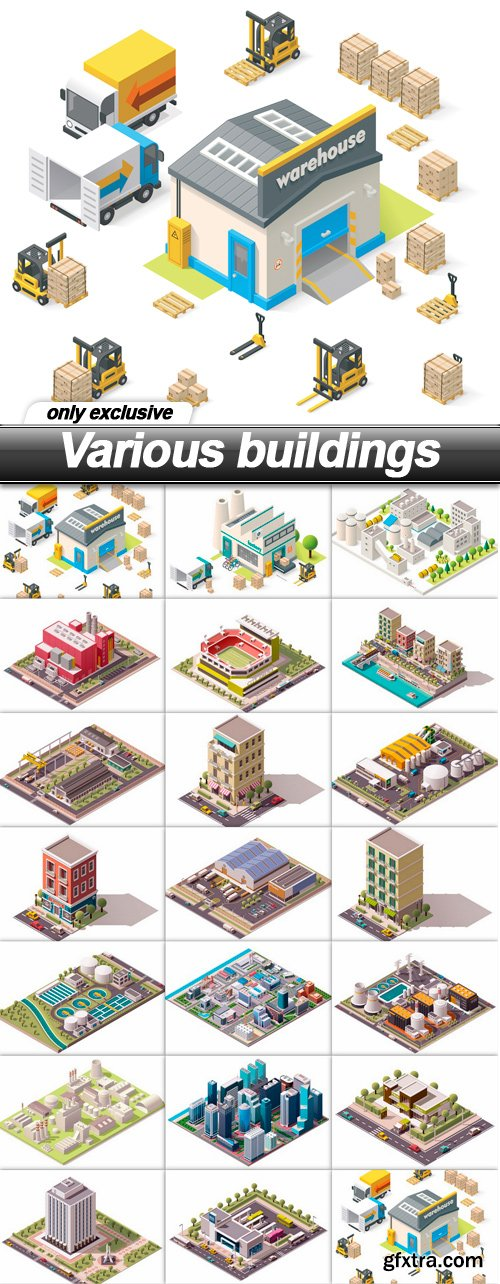 Various buildings - 20 EPS
