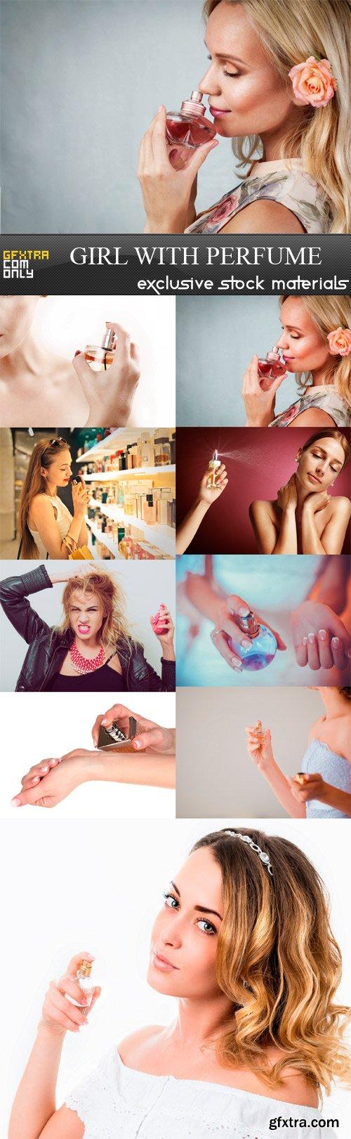 Girl With Perfume - 9 x JPEGs