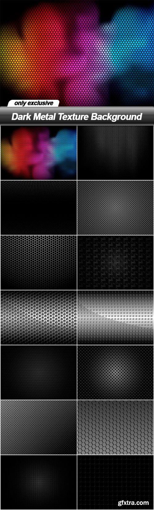 Dark Metal Texture Background - 14 EPS