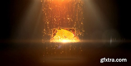Videohive - Sparkles Rain Logo - 8074158