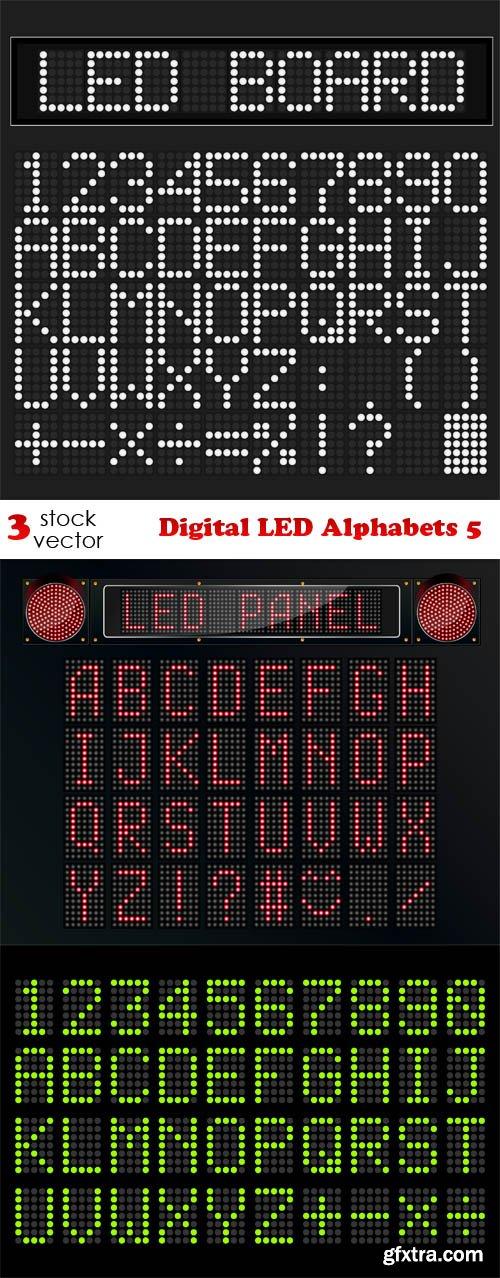 Vectors - Digital LED Alphabets 5
