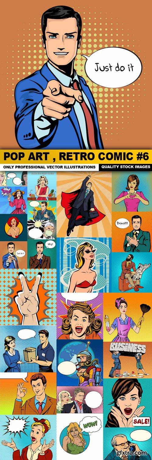 Pop Art , Retro Comic #6 - 25 Vector