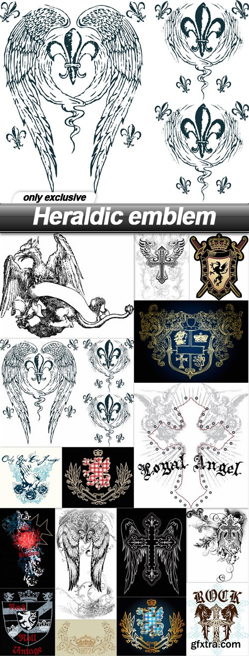 Heraldic emblem - 16 EPS