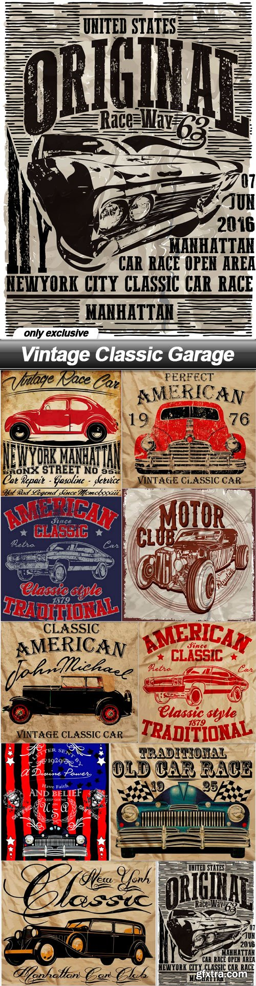 Vintage Classic Garage - 10 EPS