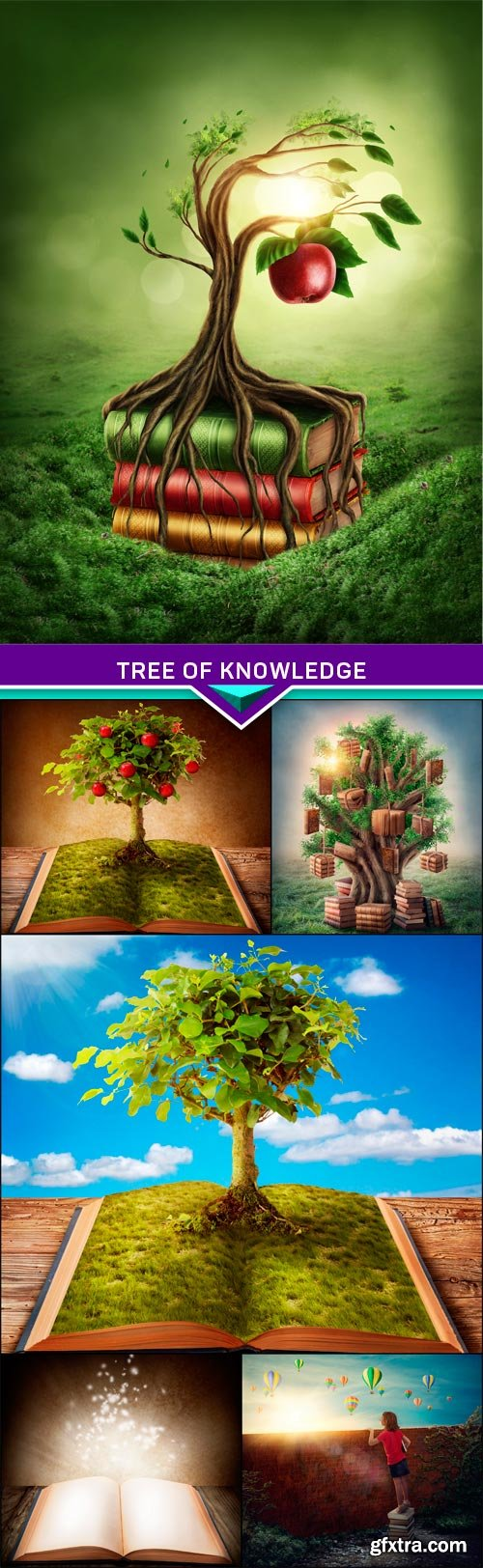 Tree of knowledge and forbidden fruit 6x JPEG