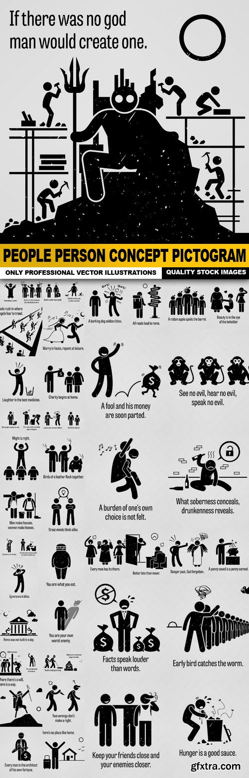 People Person Concept Pictogram - 50 Vector