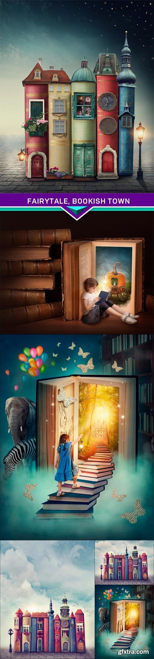 Fairytale, bookish town 6x JPEG