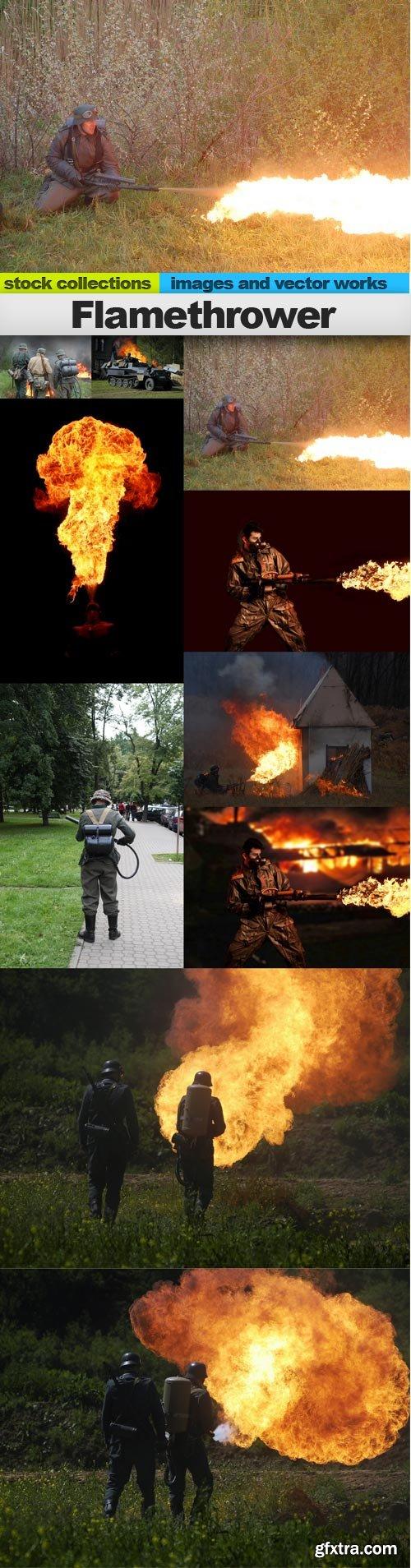 Flamethrower, 10 x UHQ JPEG