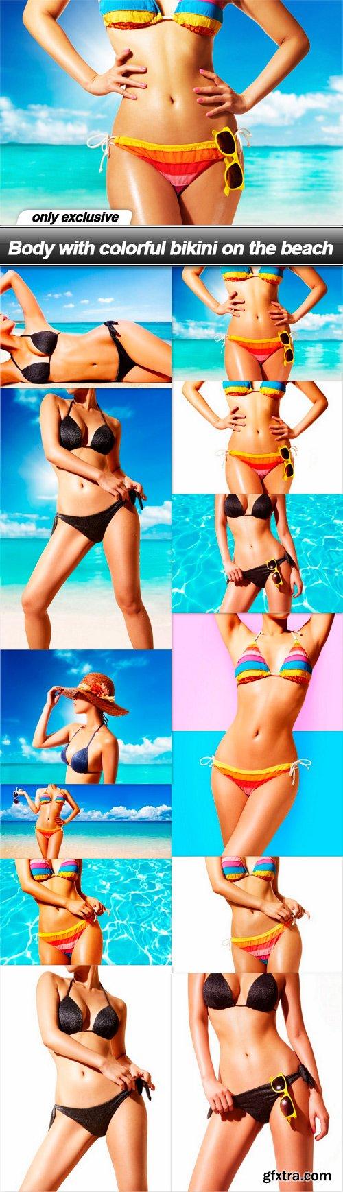 Body with colorful bikini on the beach - 12 UHQ JPEG