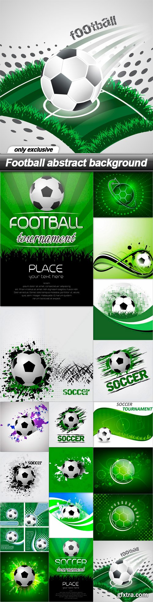 Football abstract background - 18 EPS