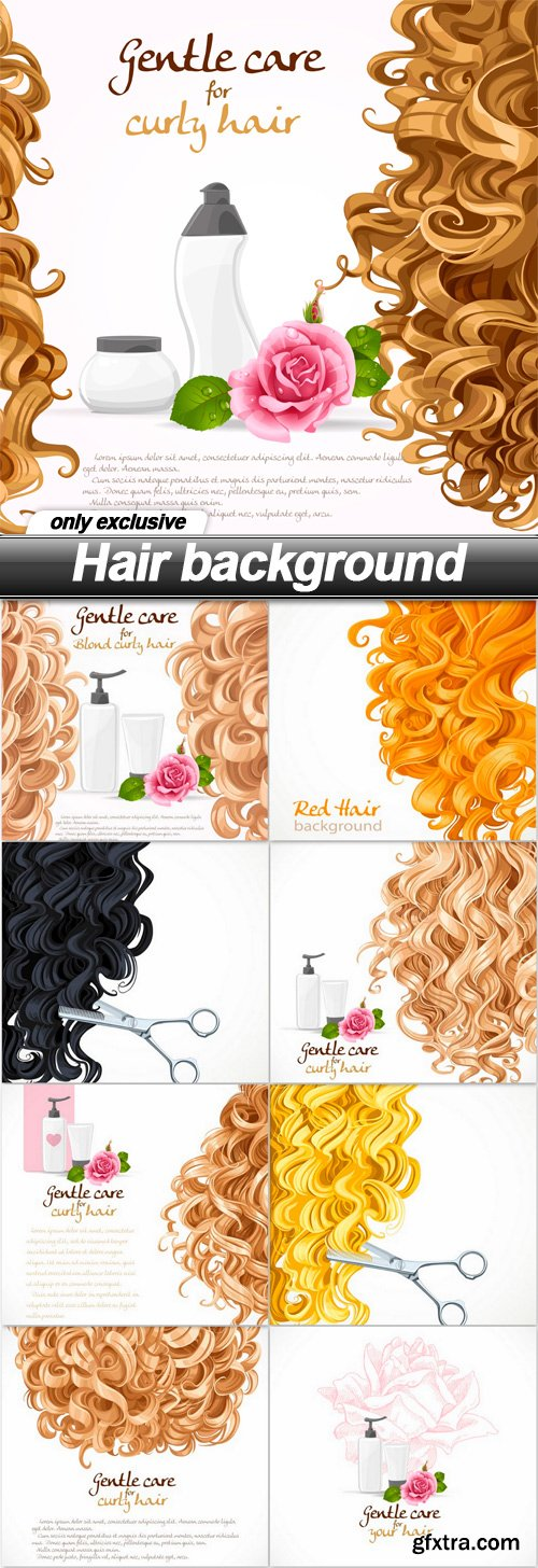 Hair background - 9 EPS