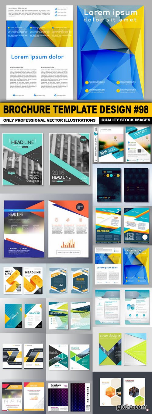 Brochure Template Design #98 - 20 Vector