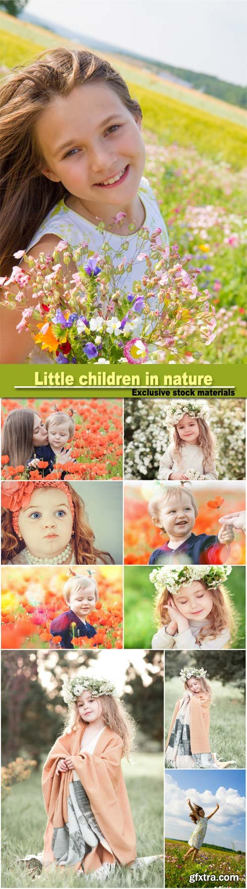 Little Children in Nature, Family 10xJPG
