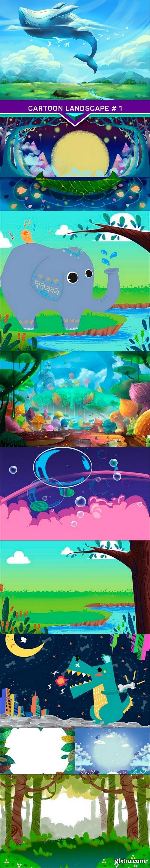 Cartoon landscape # 1 10x JPEG