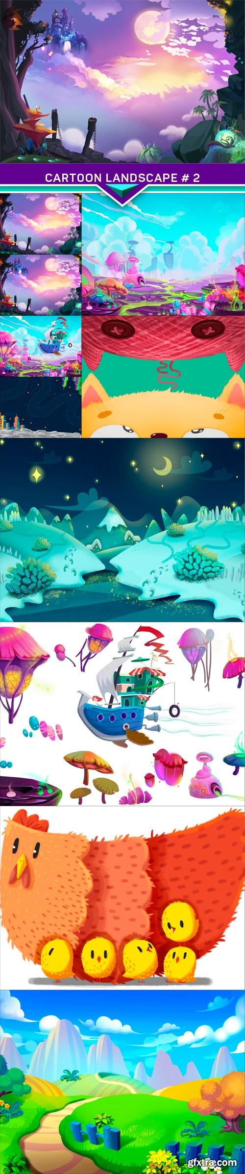 Cartoon landscape # 2 10x JPEG