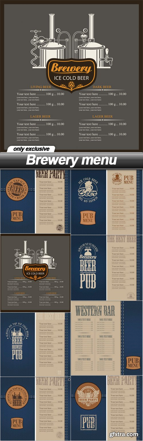 Brewery menu - 8 EPS