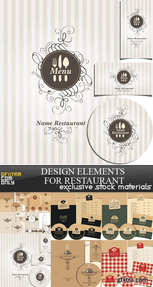 Design Elements for Restaurant - 9 EPS