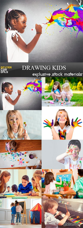 Drawing Kids - 10 x JPEGs