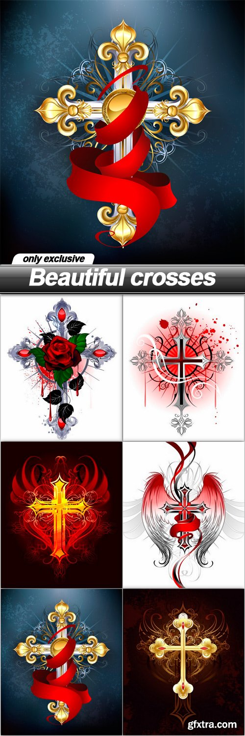 Beautiful crosses - 6 UHQ JPEG