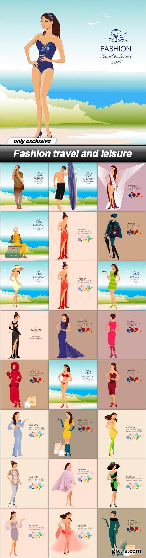 Fashion travel and leisure - 25 EPS