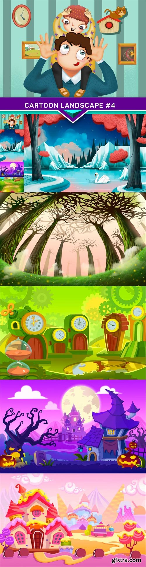 Cartoon landscape #4 9x JPEG