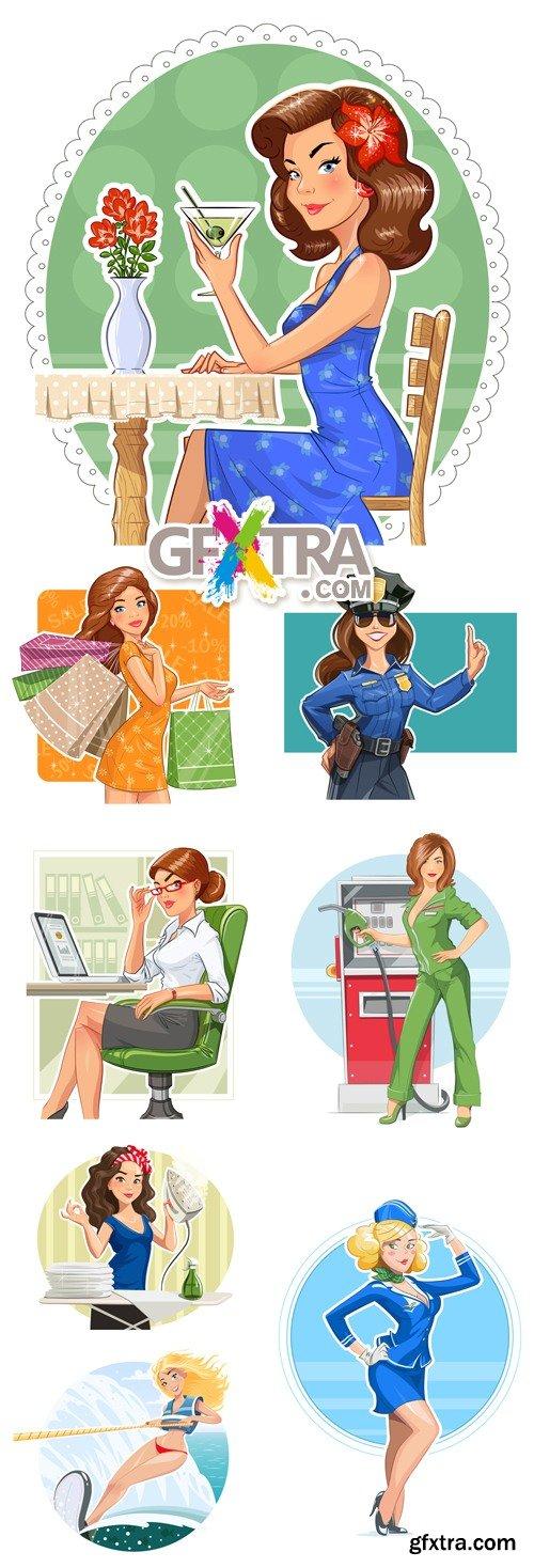 Women, Girls Vector
