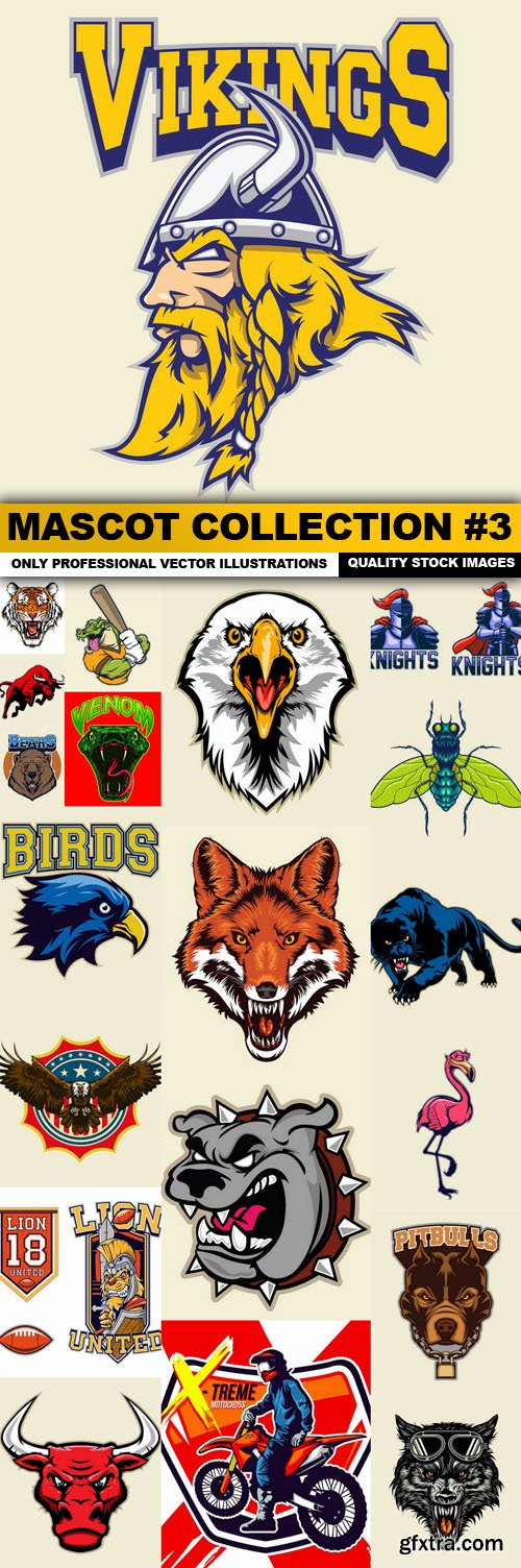 Mascot Collection #3 - 20 Vector