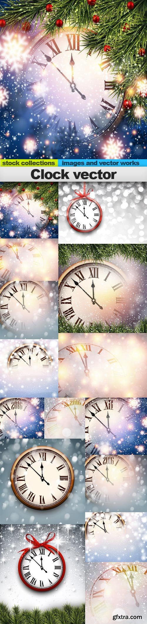 Clock vector, 15 x EPS