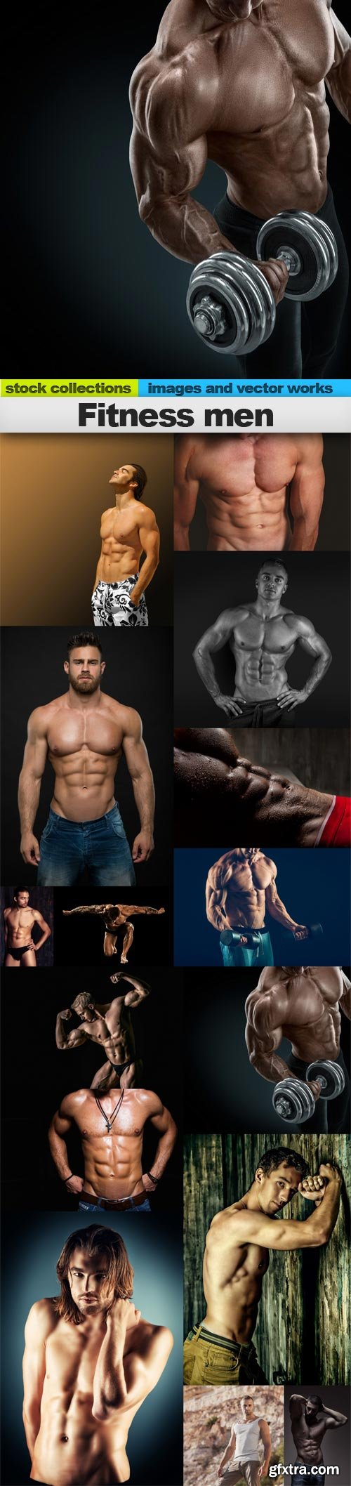 Fitness men, 15 x UHQ JPEG