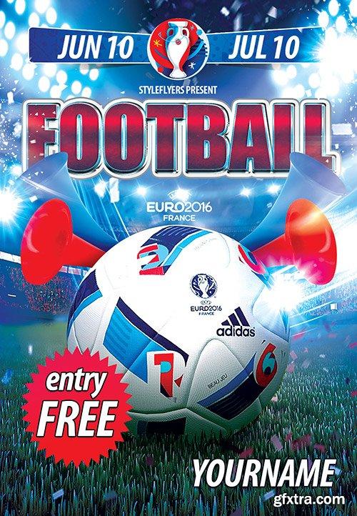 Football (Soccer) PSD Flyer Template + Facebook Cover