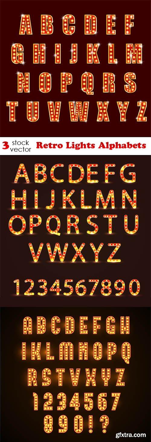Vectors - Retro Lights Alphabets